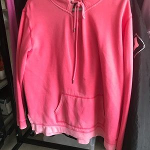 Pink hoodie from American Eagle.